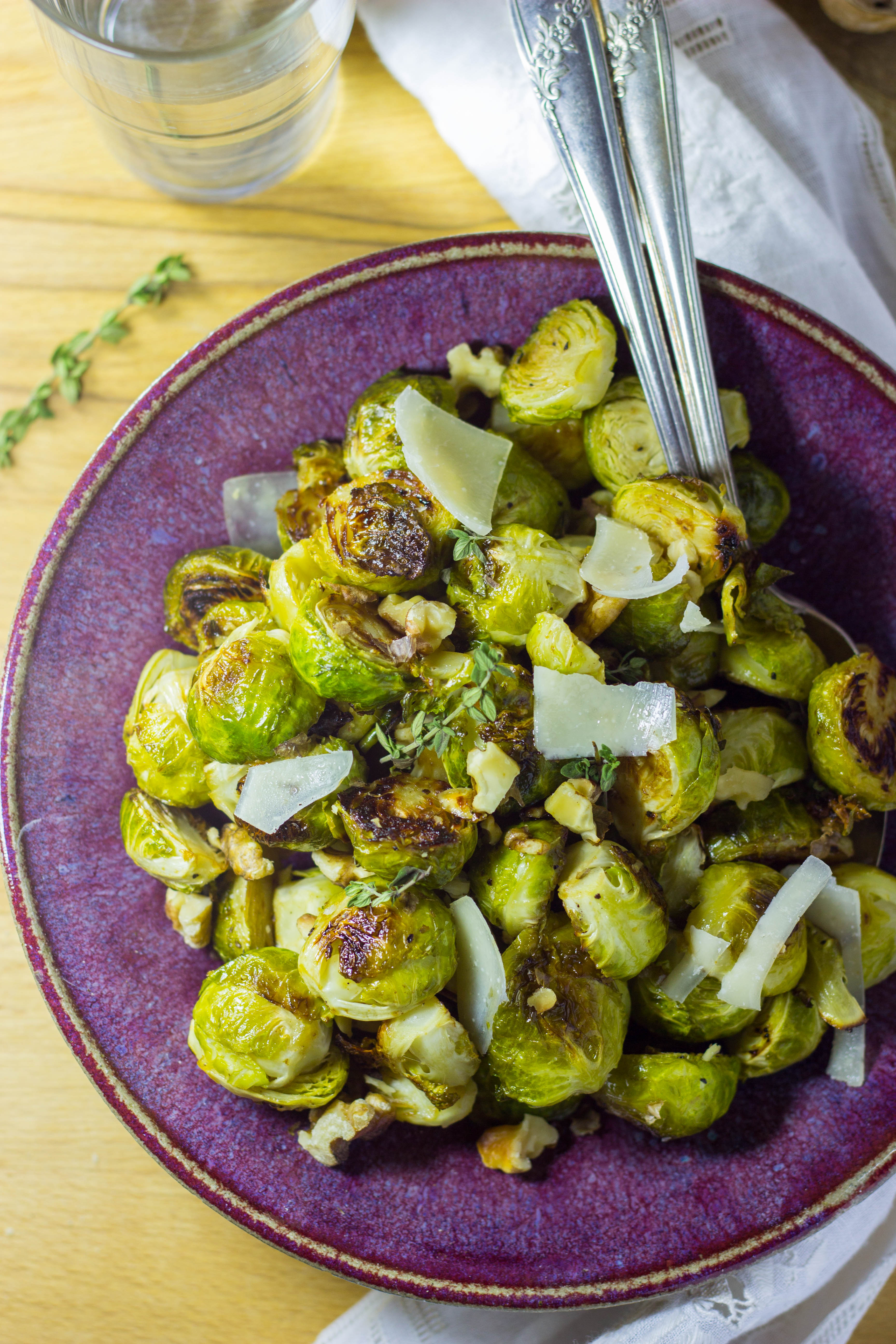 Maple & Dijon Roasted Brussels Sprouts with Toasted ...