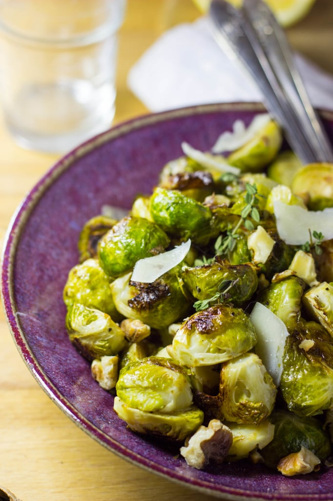 Maple & Dijon Roasted Brussels Sprouts with Toasted Walnuts & Parmesan-6672