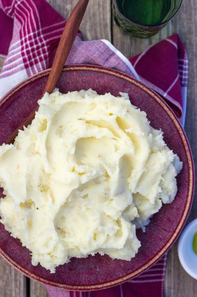 Parmesan Wasabi Mashed Potatoes