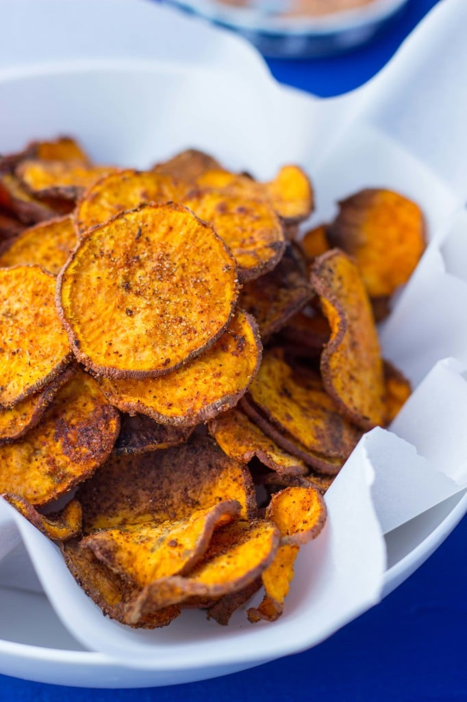 Baked BBQ Sweet Potato Chips-7134