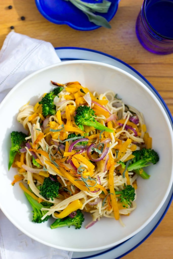 Butternut Squash & Broccoli Pasta with Sage-7328
