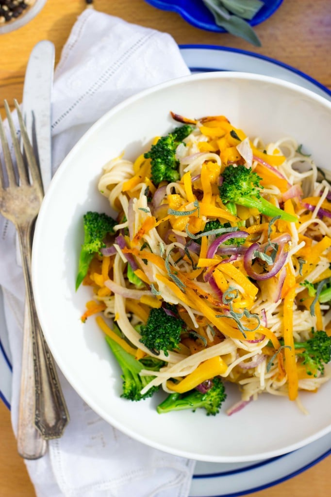 Butternut Squash & Broccoli Pasta with Sage-7338