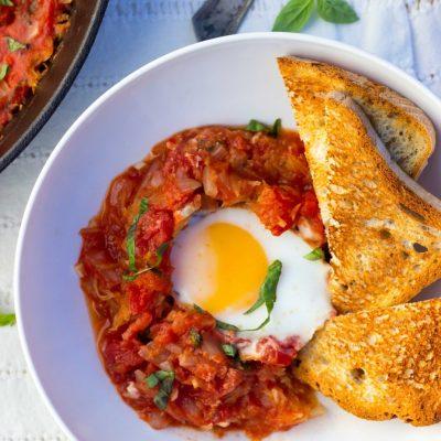 Eggs In Purgatory With Spaghetti Squash
