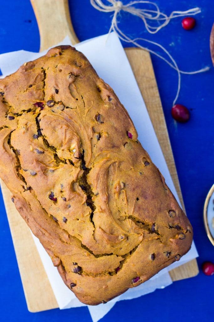Super Moist Gluten Free Loaded Pumpkin Bread-7540