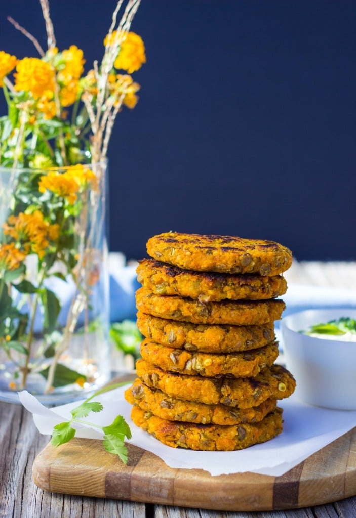 Sweet Potato, Millet & Lentil Cakes with Curry Cilantro Mayo-6202