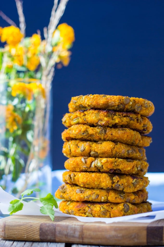 Sweet Potato, Millet & Lentil Cakes with Curry Cilantro Mayo-6214
