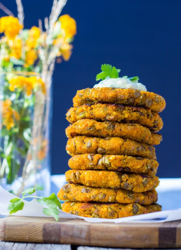 Sweet Potato, Millet & Lentil Cakes with Curry Cilantro Mayo-6228