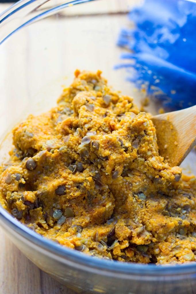 Sweet Potato & Millet Patties with Curry Cilantro mayo2