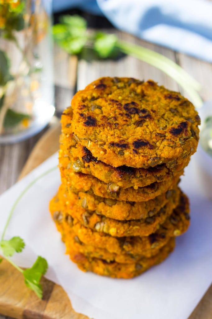 Sweet Potato & Millet Patties with Curry Cilantro mayo3