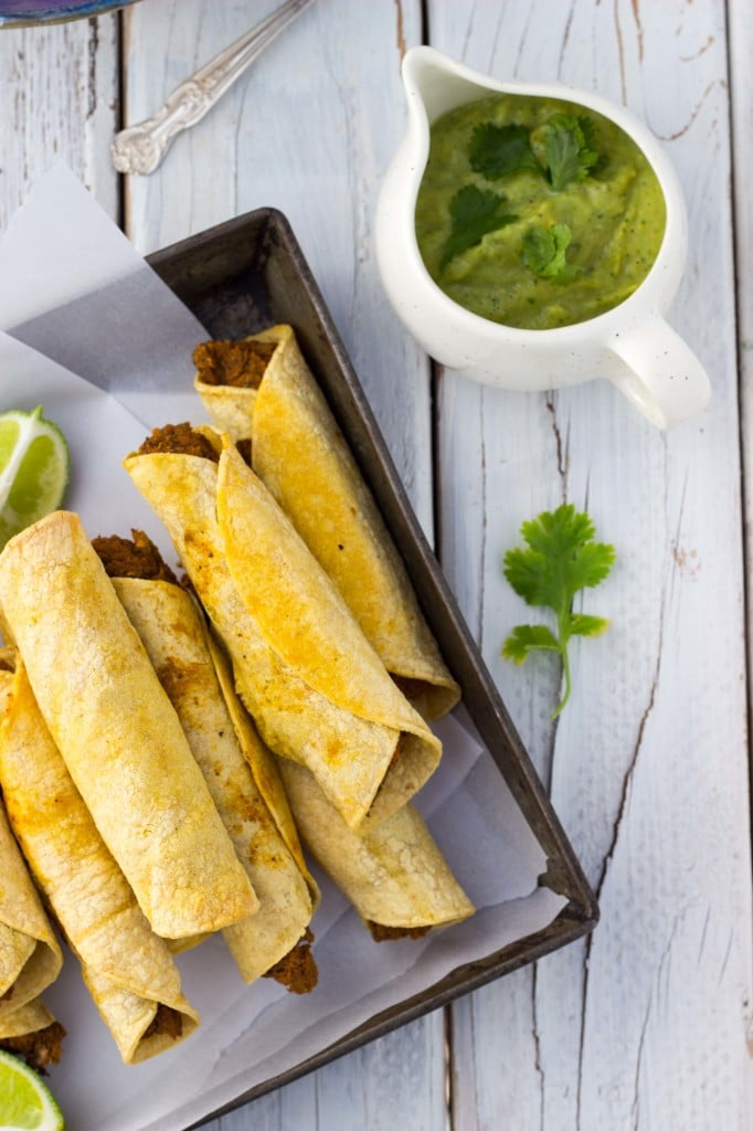 Baked Black Bean & Sweet Potato Taquitos-8615