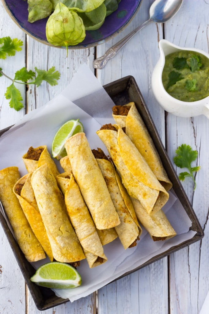Baked Black Bean & Sweet Potato Taquitos-8642