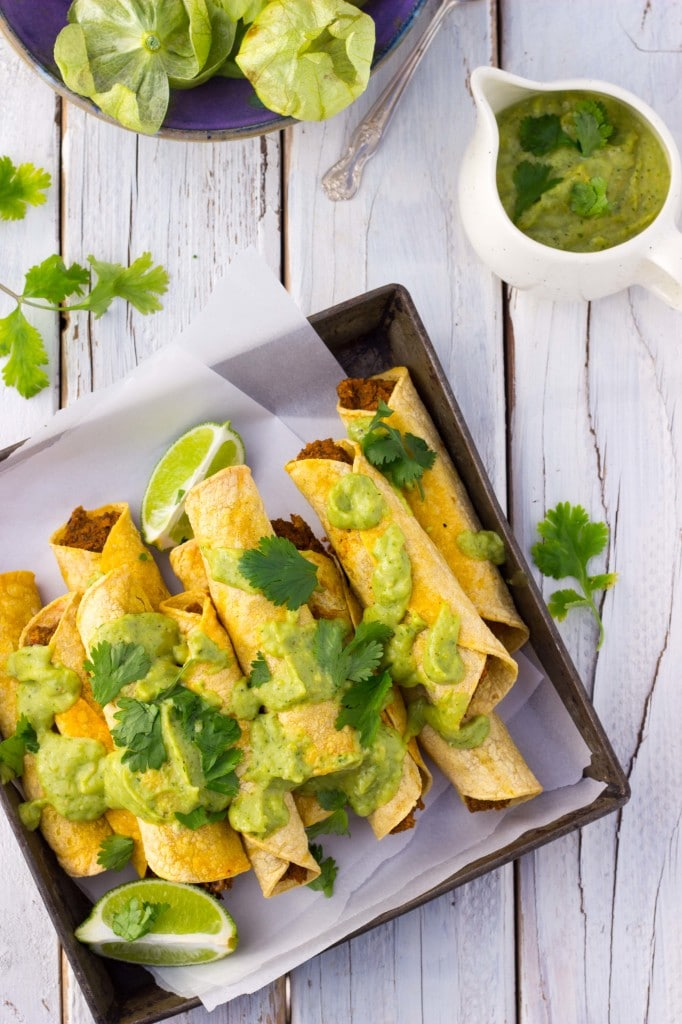 Baked Black Bean & Sweet Potato Taquitos-8654