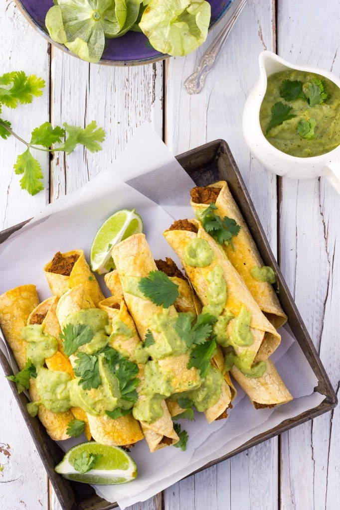 Baked Black Bean & Sweet Potato Taquitos-8661