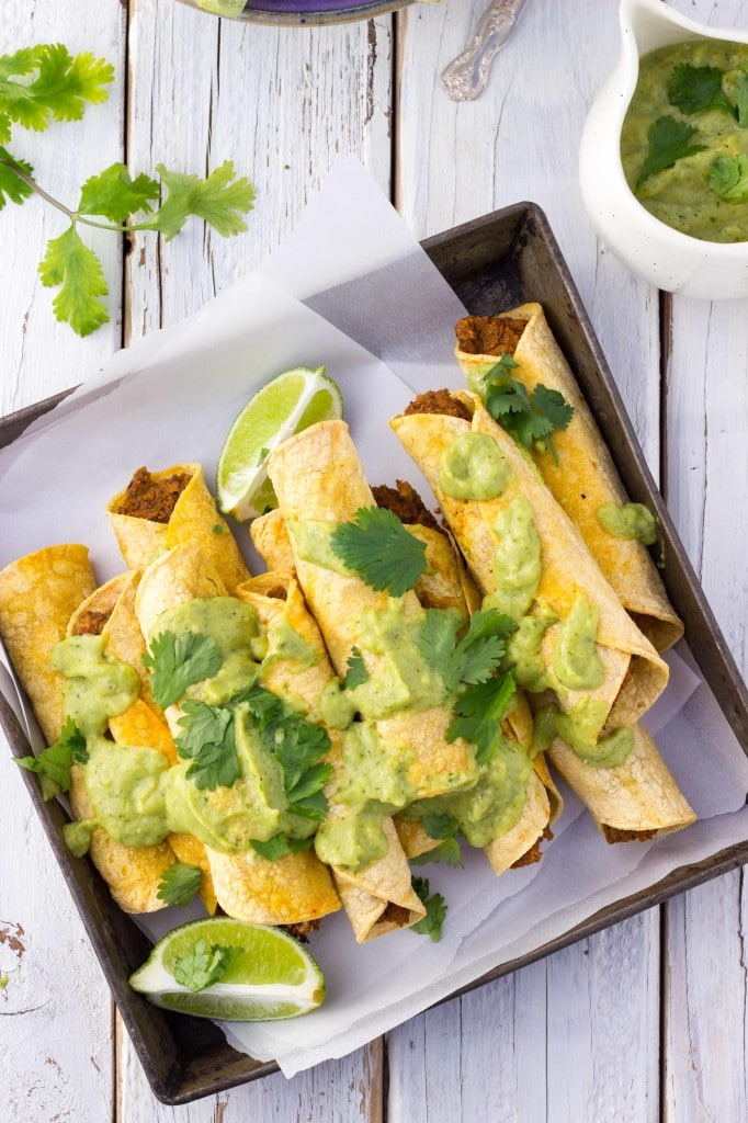Baked Black Bean & Sweet Potato Taquitos-8664