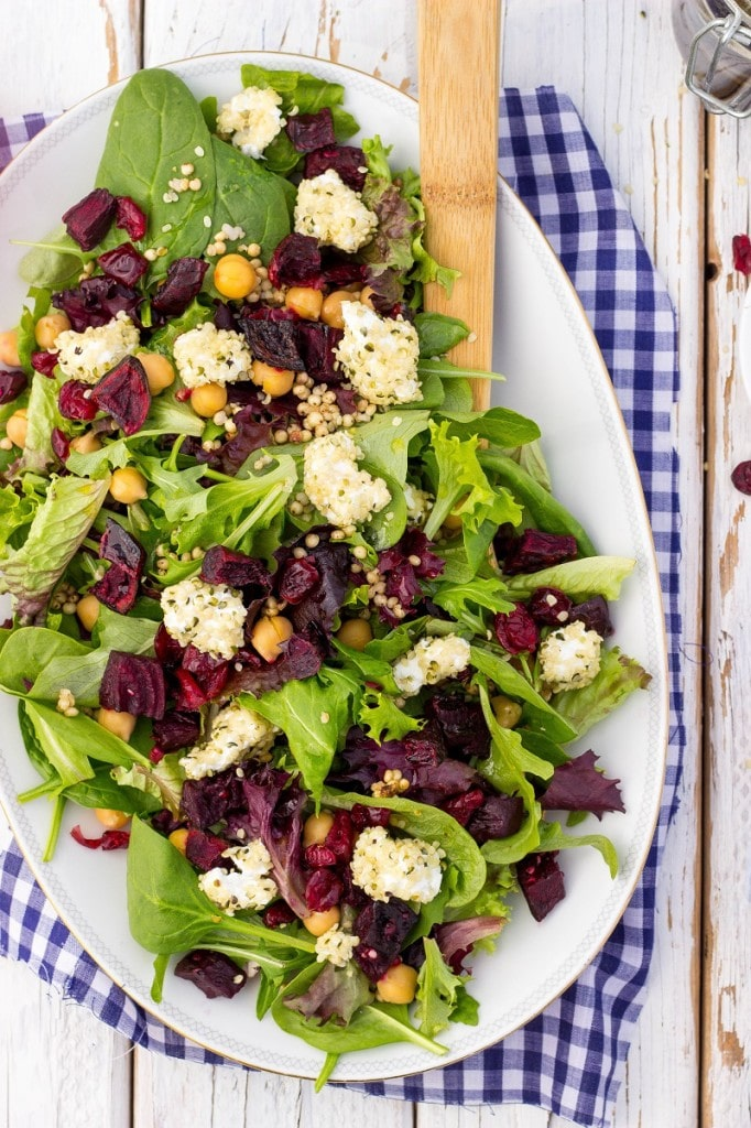 Roasted Beet Salad with Hemp Heart Crusted Goat Cheese-9147