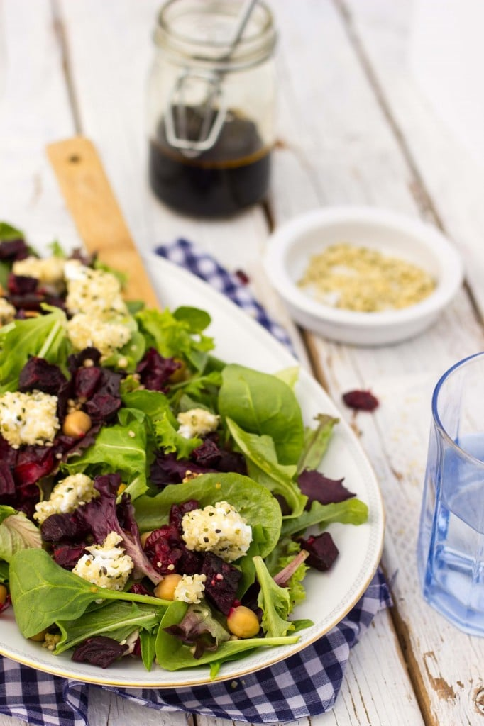 Roasted Beet Salad with Hemp Heart Crusted Goat Cheese-9172
