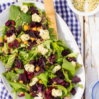 Roasted Beet Salad with Hemp Heart Crusted Goat Cheese {+Giveaway}