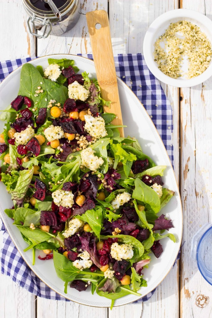 Roasted Beet Salad with Hemp Heart Crusted Goat Cheese1-9194