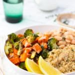 Roasted Sweet Potato & Broccoli Winter Bowls