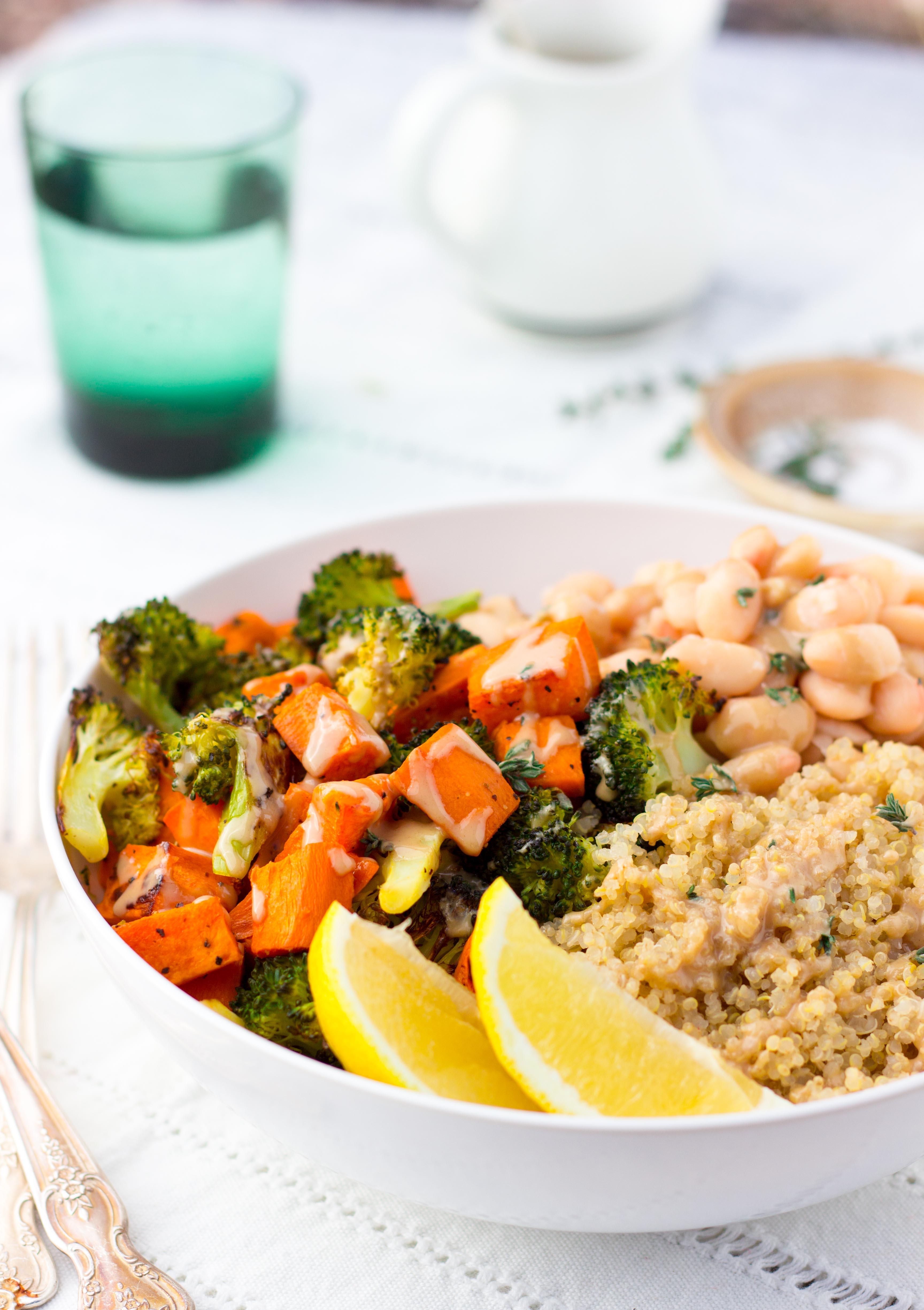 Roasted Sweet Potato Broccoli Winter Bowls She Likes Food
