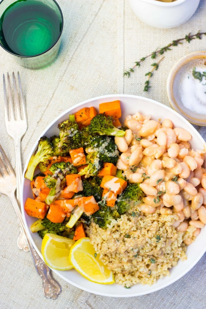 Roated Broccoli & Sweet Potato Winter Bowls-8520