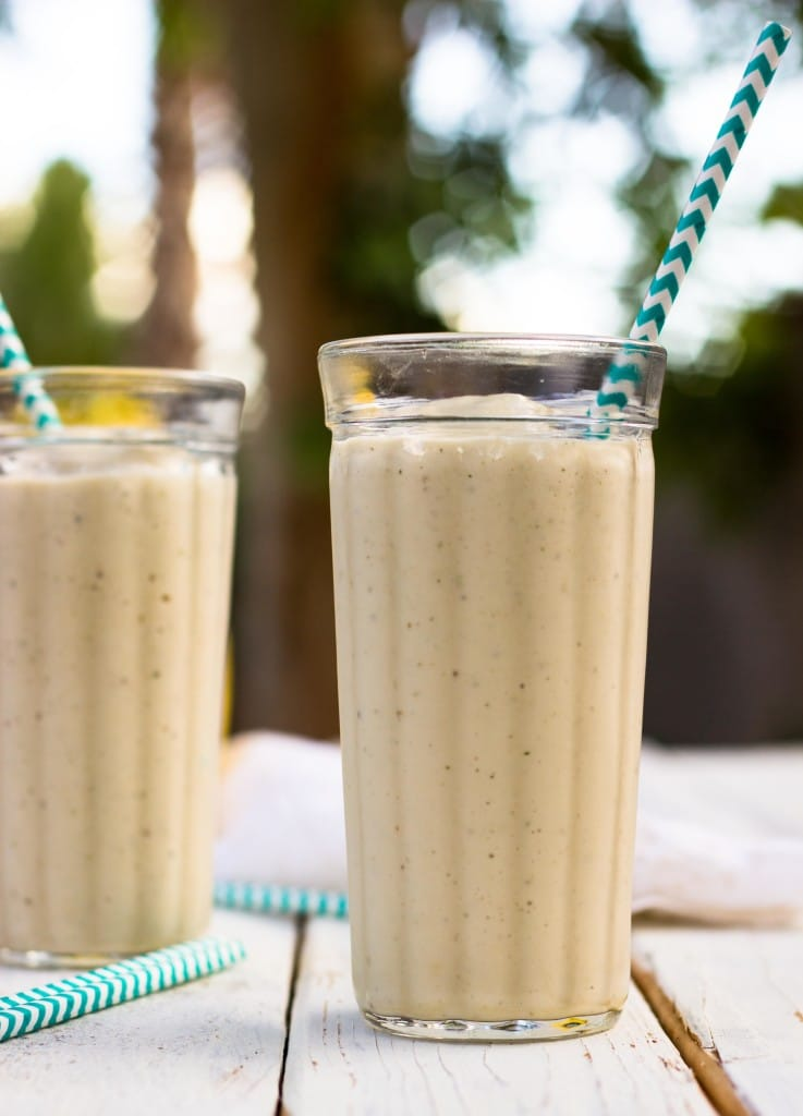 Skinny Peanut Butter & Banana Milkshakes {vegan}-5078