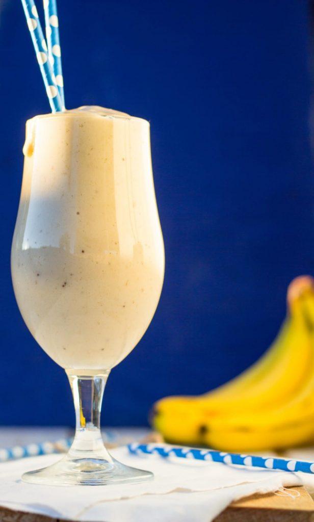 Skinny Peanut Butter & Banana Milkshakes {vegan}-8744