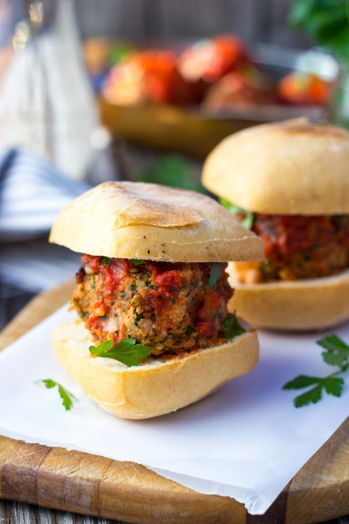 Vegetarian Mealball Sliders with Kale, White Beans & Feta-9090