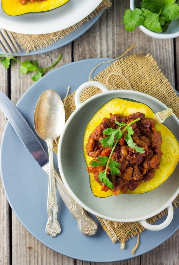 Chili Stuffed Acorn Squash-0092