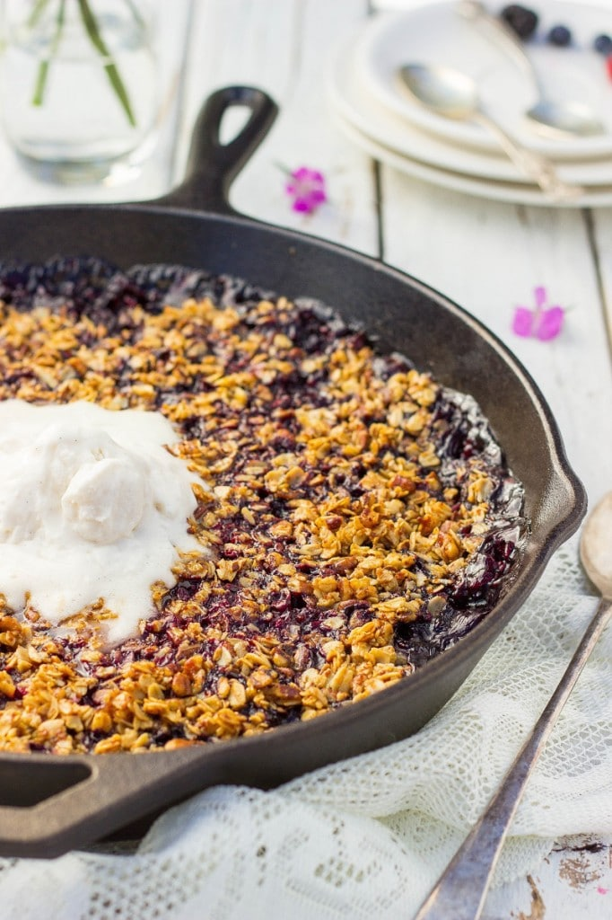Mixed Berry Crisp with Chocolate and Pecanss-0510