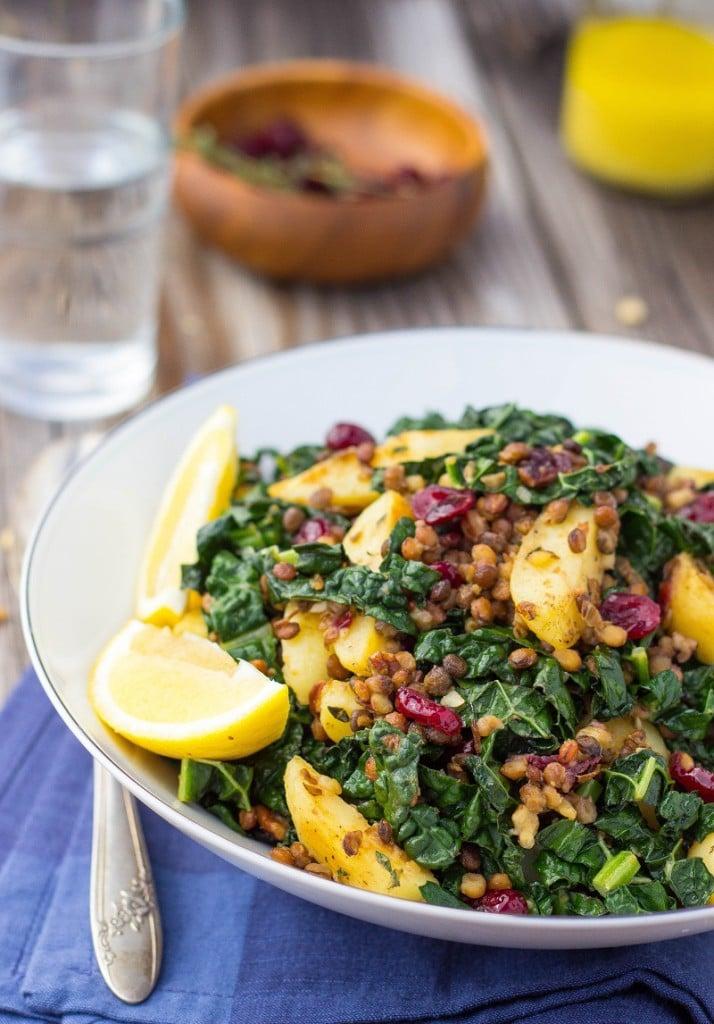 Warm Lentil, Kale & Potato Salad with Lemon Dijon Dressing-0746