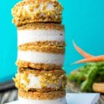 Carrot Cake Ice Cream Sandwiches {vegan & gluten free}