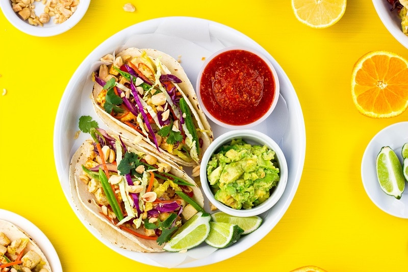 Citrus & Miso Marinated Tofu Tacos4