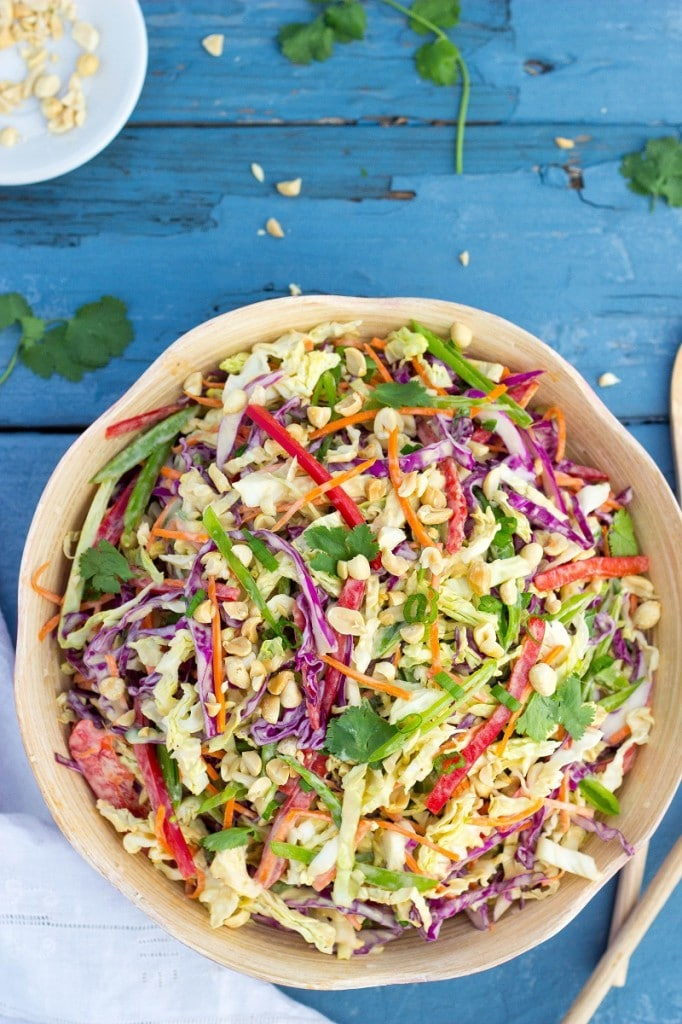 Creamy Rainbow Asian Slaw-2331