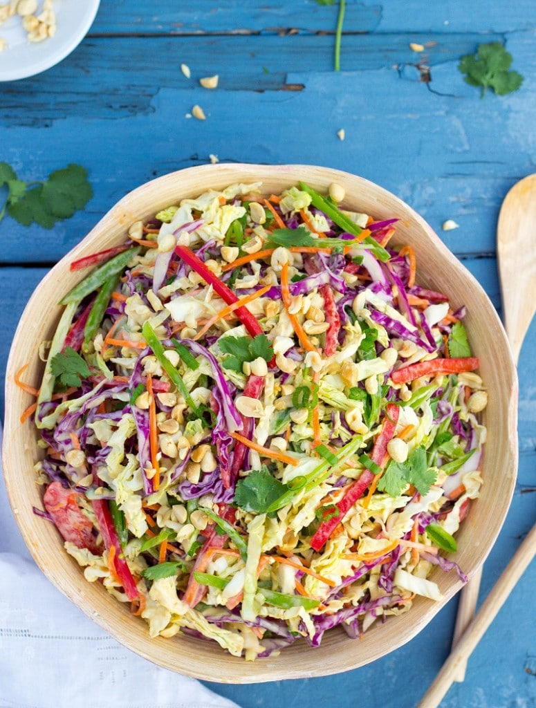Creamy Rainbow Asian Slaw-2335