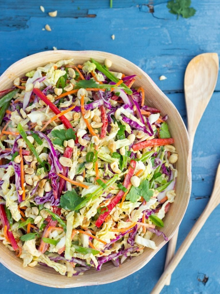 Creamy Rainbow Asian Slaw-2363