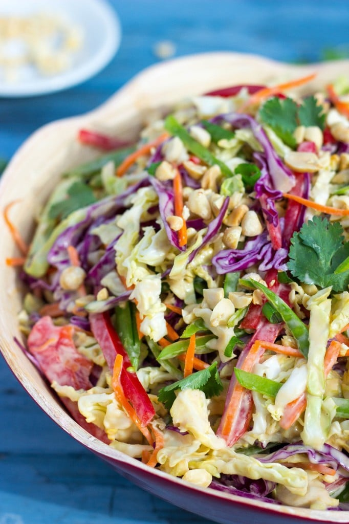 Creamy Rainbow Asian Slaw-2384