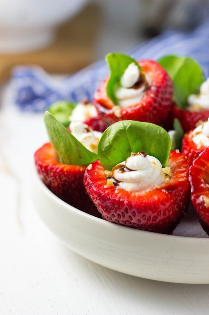 Goat Cheese & Spinach Stuffed Strawberries with Candied Walnuts & Balsamic Glaze-2986