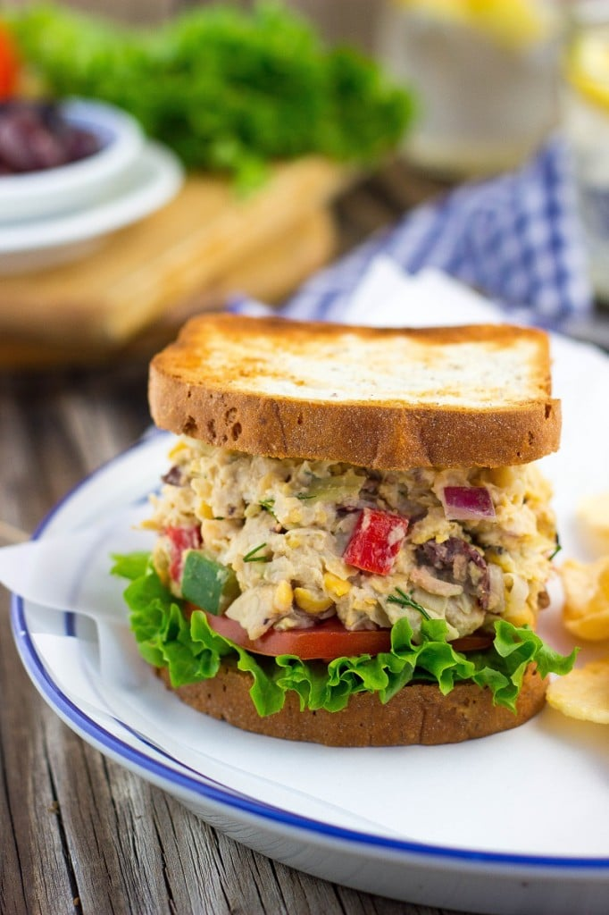 Greek Chickpea Salad Sandwiches {vegan}