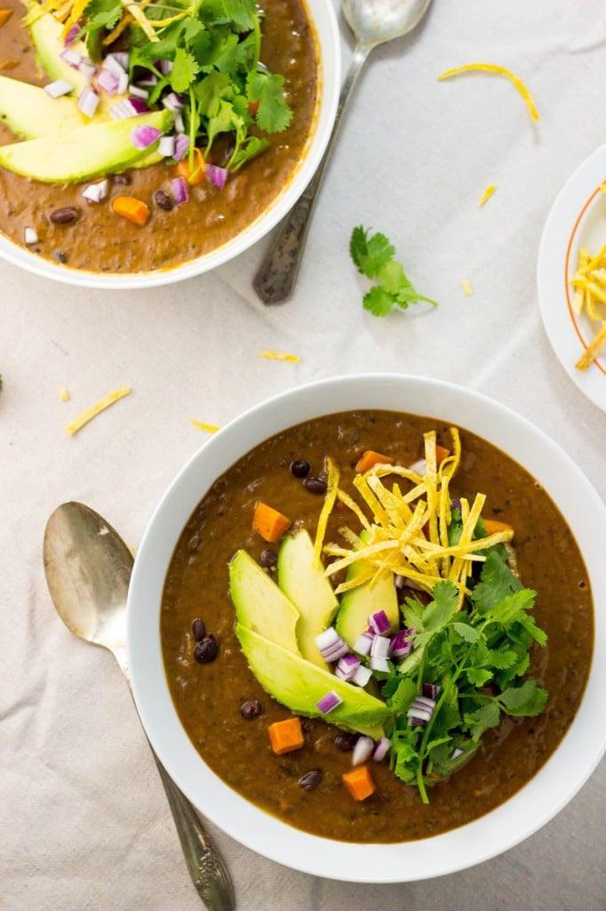 Smokey Sweet Potato and Black Bean Soup-1074