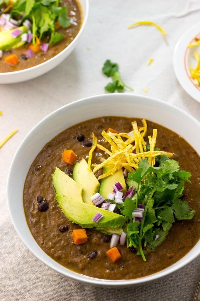 Smokey Sweet Potato and Black Bean Soup-1158