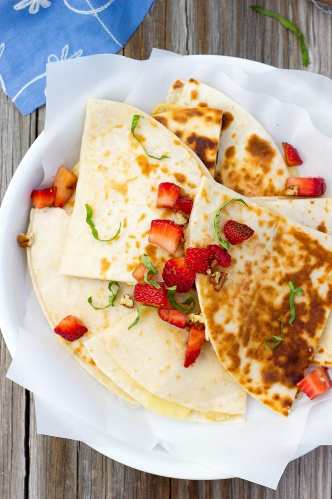 Brie Cheese Quesadillas with Strawberry Salsa-4679