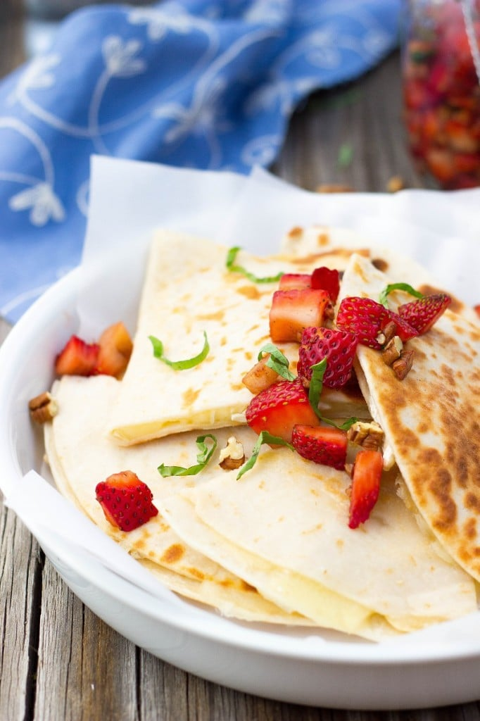 Brie Cheese Quesadillas with Strawberry Salsa-4691