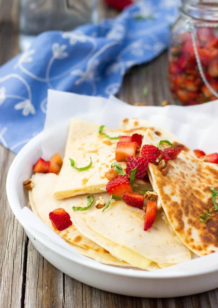 Brie Cheese Quesadillas with Strawberry Salsa-4694