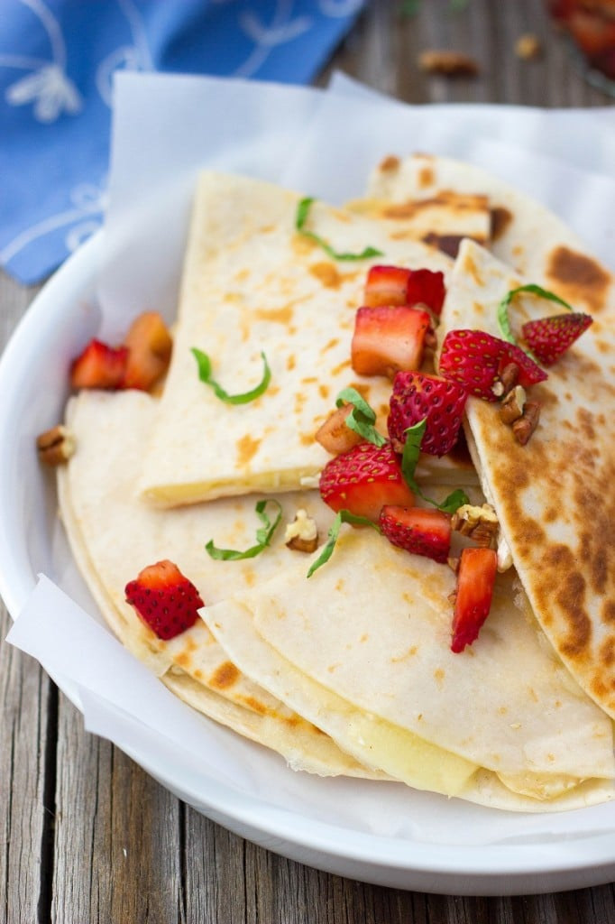 Brie Cheese Quesadillas with Strawberry Salsa-4711