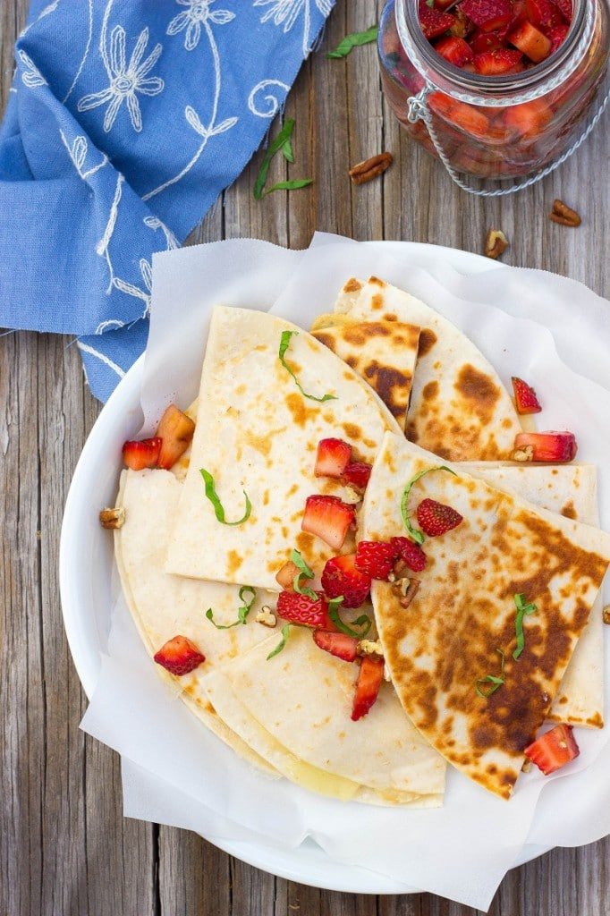 Brie Cheese Quesadillas with Strawberry Salsa-4722