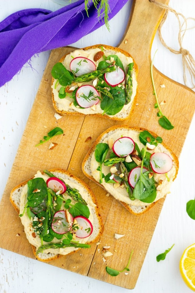 Fresh Spring Toasts with Hummus-3180
