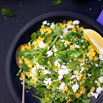 Spring Orzo Salad with Asparagus and Peas