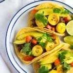 Black Bean & Roasted Plantain Tacos with Avocados