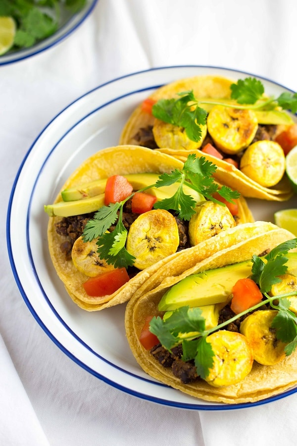 Black Bean & Roasted Plantain Tacos with Avocados-8561